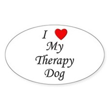I Love My Therapy Dog Decal