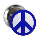 10 Blue Peace Sign Buttons