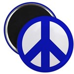 100 Blue Peace Sign Magnets