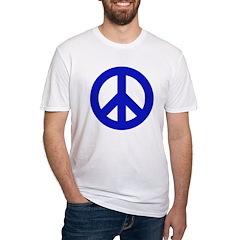 Blue Peace Sign Shirt