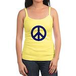Blue Peace Sign Jr. Spaghetti Tank