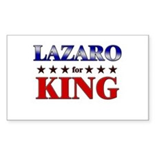LAZARO for king Rectangle Decal