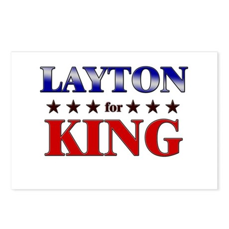 LAYTON for king Postcards (Package of 8)