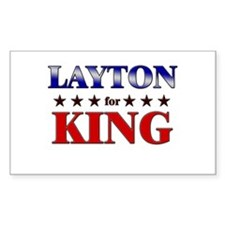 LAYTON for king Rectangle Decal
