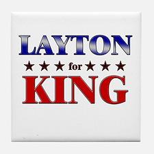 LAYTON for king Tile Coaster