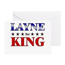 LAYNE for king Greeting Card