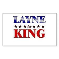 LAYNE for king Rectangle Decal