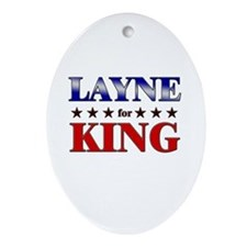 LAYNE for king Oval Ornament