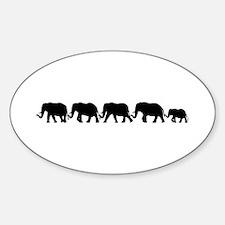 ELEPHANT LINE Oval Decal