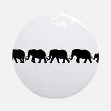 ELEPHANT LINE Ornament (Round)