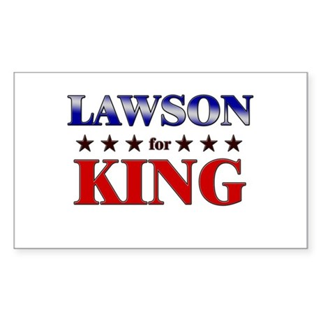LAWSON for king Rectangle Sticker