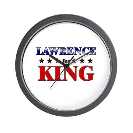 LAWRENCE for king Wall Clock