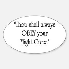 Thou Shall Oval Decal