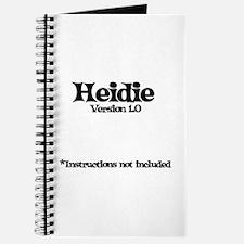 Heidi - Version 1.0 Journal