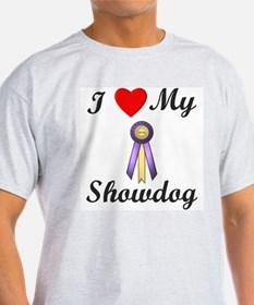 I Love My Showdog (ribbon) T-Shirt