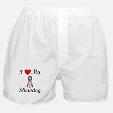 I Love My Showdog (ribbon) Boxer Shorts