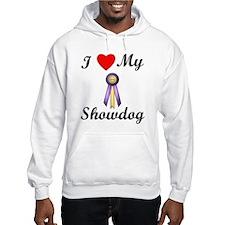I Love My Showdog (ribbon) Hoodie