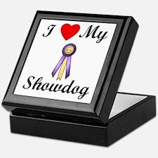 I Love My Showdog (ribbon) Keepsake Box