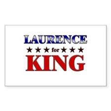 LAURENCE for king Rectangle Decal
