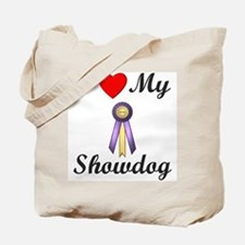 I Love My Showdog (ribbon) Tote Bag