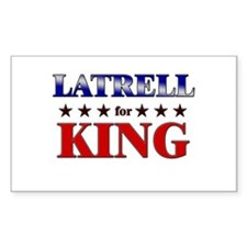 LATRELL for king Rectangle Decal