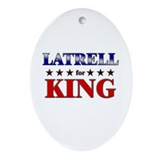 LATRELL for king Oval Ornament