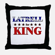 LATRELL for king Throw Pillow