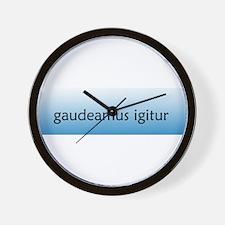 Gaudeamus Igitur! [Latin] Wall Clock