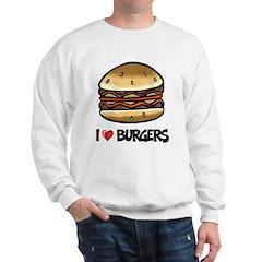 I Love Burgers Sweatshirt