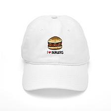 I Love Burgers Baseball Baseball Cap