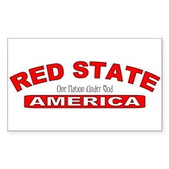 Red State America Rectangle Decal