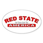 Red State America Oval Sticker