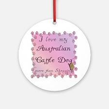 Aussie Cattle Shopping Ornament (Round)