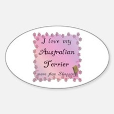 Aussie Terrier Shopping Oval Decal