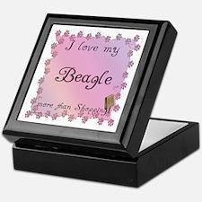 Beagle Shopping Keepsake Box