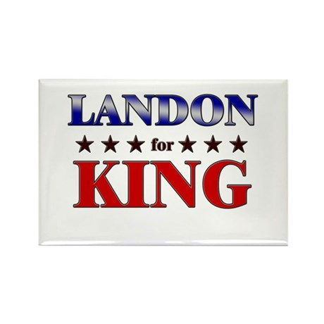 LANDON for king Rectangle Magnet (10 pack)