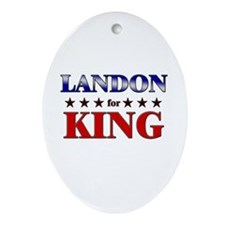 LANDON for king Oval Ornament