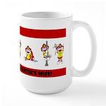 Proud Firefighter's Wife Large Mug