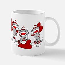 Sock Monkey Hearts Mug