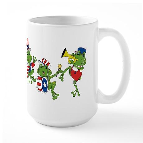 USA Patriotic Frogs Large Mug