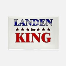 LANDEN for king Rectangle Magnet