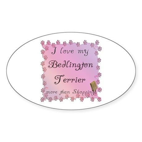 Bedlington Shopping Oval Sticker