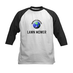 World's Coolest LAWN MOWER Kids Baseball Jersey