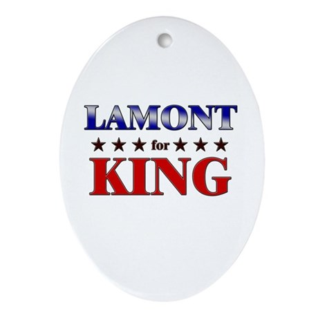 LAMONT for king Oval Ornament