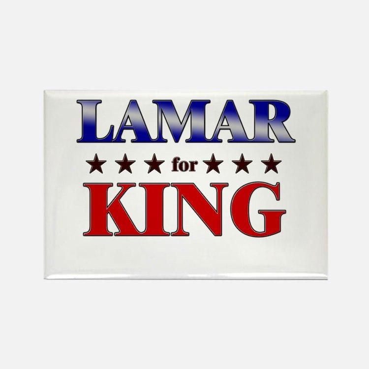LAMAR for king Rectangle Magnet