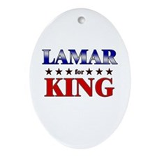 LAMAR for king Oval Ornament