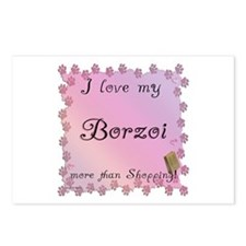 Borzoi Shopping Postcards (Package of 8)