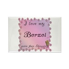 Borzoi Shopping Rectangle Magnet