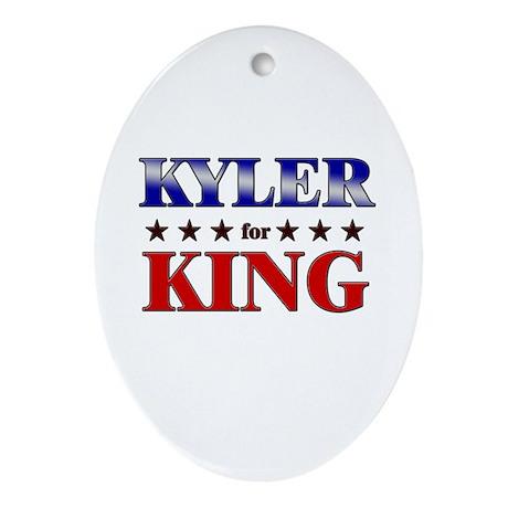 KYLER for king Oval Ornament