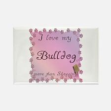 Bulldog Shopping Rectangle Magnet
